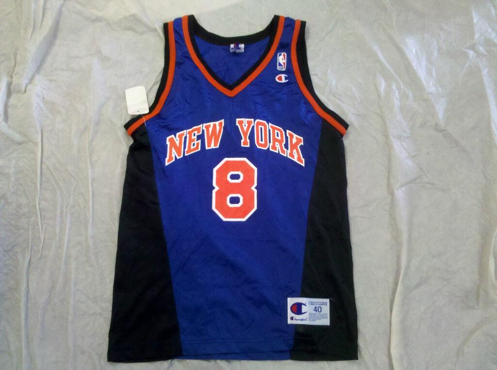 2dc05bdb2 Latrell Sprewell Retro Champion New York Knicks Jersey on PopScreen