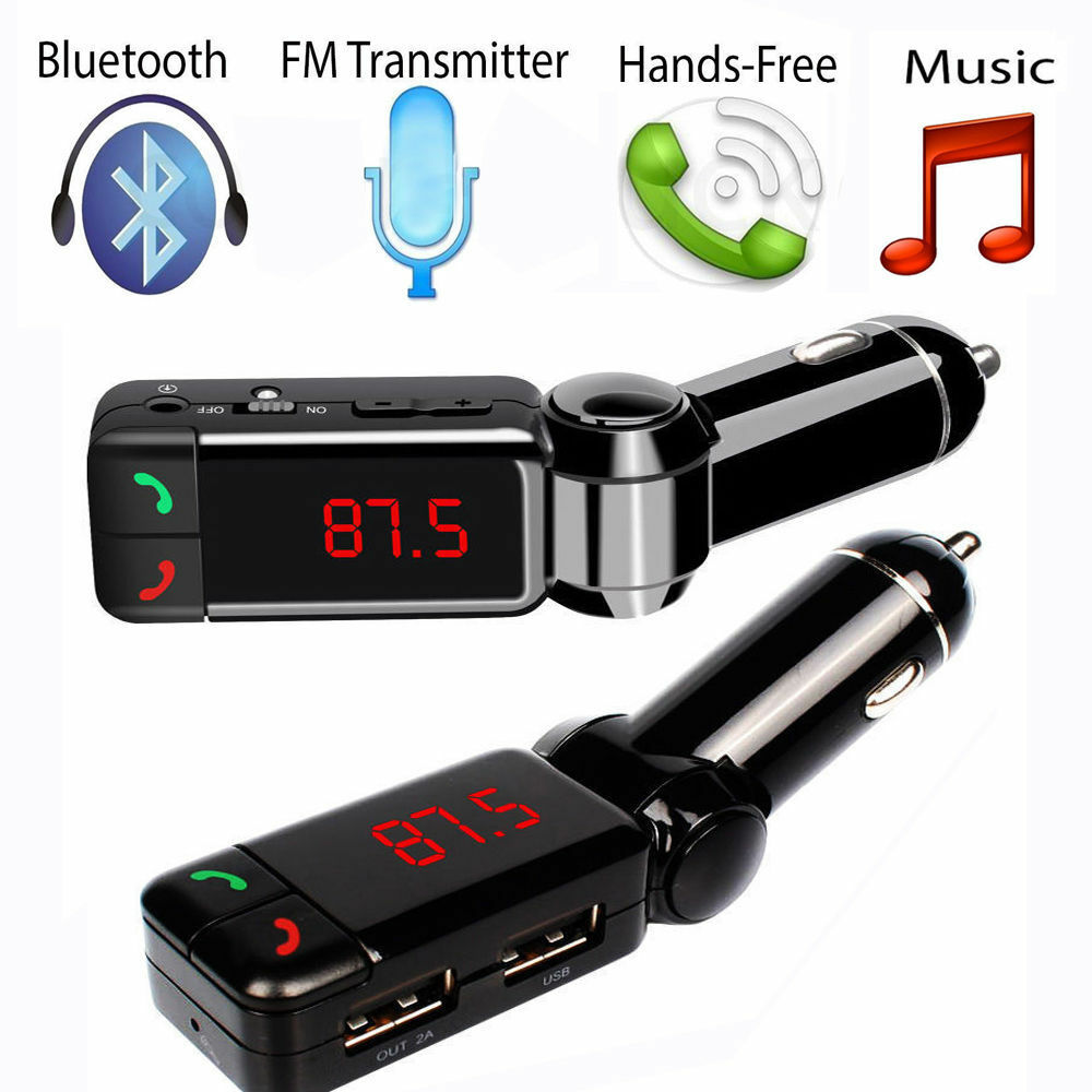 dual usb car kit charger wireless bluetooth stereo mp3. Black Bedroom Furniture Sets. Home Design Ideas
