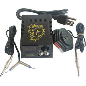 Lcd digital tattoo power supply clip cord and foot pedal for Tattoo supplies ebay