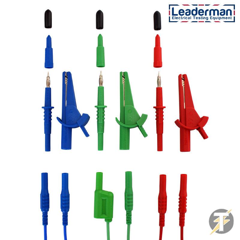 Fluke 1651 Test Lead Probes Clips JPSS019 Multifunction Tester Leads