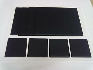 Leather look pvc table mats coasters in sets of four for Set de table pvc