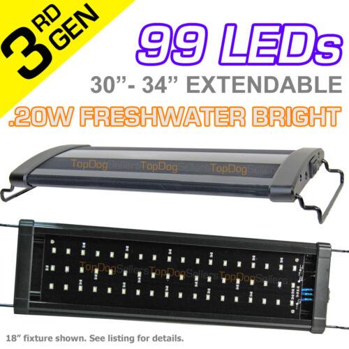 "LED 30"" HI Aquarium Light Freshwater Tropical Fish Tetra Cichlid 99x .20W 75 cm in Pet Supplies, Aquarium & Fish, Lighting | eBay"