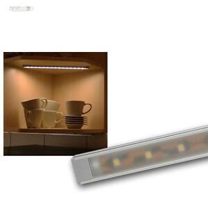 led alu unterbauleuchte 15 smd leds warmwei k che. Black Bedroom Furniture Sets. Home Design Ideas