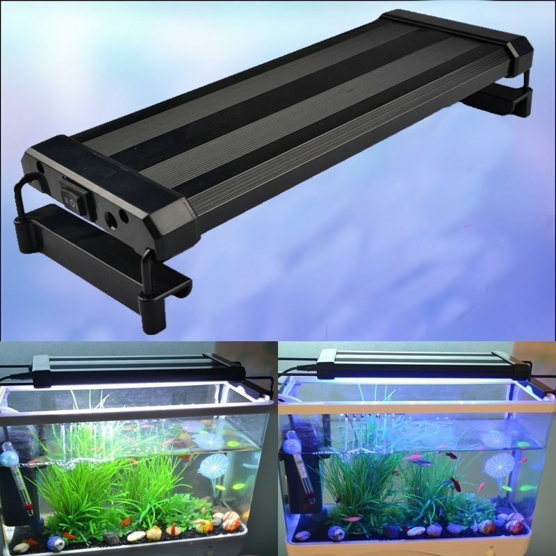 led aquarien beleuchtung aufsetzleuchte aquariumleuchte klemmleuchte lampe ebay. Black Bedroom Furniture Sets. Home Design Ideas