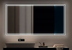 led bad spiegel badezimmerspiegel mit beleuchtung badspiegel wandspiegel 020 ebay. Black Bedroom Furniture Sets. Home Design Ideas