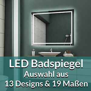 led badspiegel badezimmerspiegel wandspiegel bad spiegel. Black Bedroom Furniture Sets. Home Design Ideas