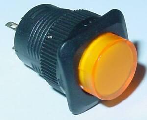 LED-Drucktaster-Klingeltaster-Orange-beleuchtet-Schliesser-250V-1A-S95