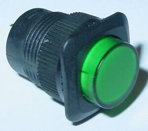 LED-Drucktaster-Klingeltaster-gruen-beleuchtet-Schliesser-250V-1A-S96