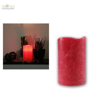 LED-Echtwachs-Kerze-12-5x7-5cm-ROT-flammenlose-Kerzen-mit-Timer-flackernd-candle