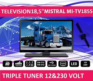 led fernseher 19 mit triple tuner dvb s2 12 230 volt f r boot wohnwagen lkw ebay. Black Bedroom Furniture Sets. Home Design Ideas
