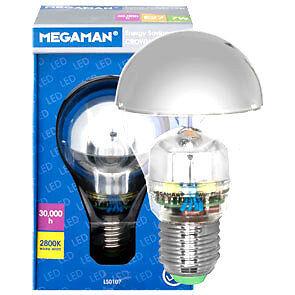 led gl hlampe kopfspiegellampe e27 7w 2800k verspiegelt warmwei megaman ebay. Black Bedroom Furniture Sets. Home Design Ideas