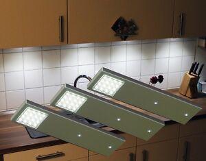 led k chen unterbauleuchten set trafo unterbauleuchte schrankleuchte ebay. Black Bedroom Furniture Sets. Home Design Ideas