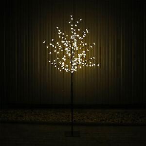 led lichterbaum gartenbeleuchtung aussen baum b umchen bl ten 200 leds 180cm ebay. Black Bedroom Furniture Sets. Home Design Ideas