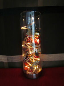 Led lichterkette im deko glas leuchter 40 dioden klar 8 for Weihnachtsdeko im glas mit lichterkette