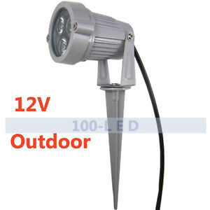 LED Low Voltage Landscape Lighting Pond Garden SpotLight Outdoor Cool White