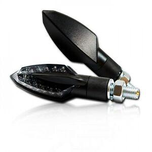 led mini blinker sliver f r motorrad schwarz smoked led. Black Bedroom Furniture Sets. Home Design Ideas