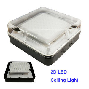 LED SMD 2D Square Ceiling Wall Light Fitting Bulkhead 9W ...