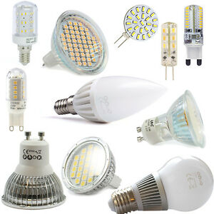 LED-SMD-GU10-GU5-3-MR16-E14-E27-G9-Lampe-Licht-Spot-Strahler-Birne-Kerze-DIMMBAR