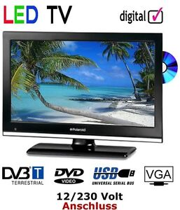 led tv 19 zoll 48 cm fernseher mit dvb t dvd mit 12 volt u. Black Bedroom Furniture Sets. Home Design Ideas
