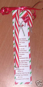 Details about legend of the candy cane christmas bookmarks 24 pkg