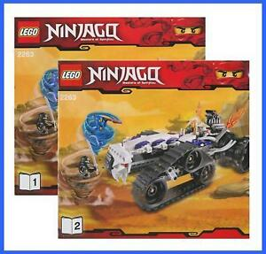 lego bauanleitung 2263 ninjago ninja turbo shredder auto fahrzeug 2601 ebay. Black Bedroom Furniture Sets. Home Design Ideas