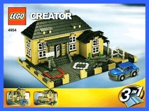 lego bauanleitung 4954 town haus stadt haus 275 ebay. Black Bedroom Furniture Sets. Home Design Ideas