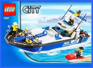 lego bauanleitung 7287 city k stenwache polizei schiff boot polizeiboot 2678. Black Bedroom Furniture Sets. Home Design Ideas