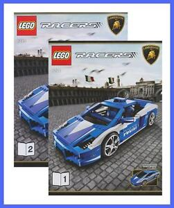 lego bauanleitung 8214 racers lamborghini polizia police polizei auto 2762 ebay. Black Bedroom Furniture Sets. Home Design Ideas