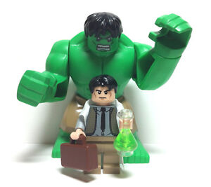 About lego bruce banner hulk prototype minifigure marvel super heroes