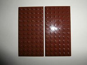 LEGO-CASTLE-STAR-WARS-2-Bauplatten-3028-in-braun-12x6-Noppen-NEUWARE