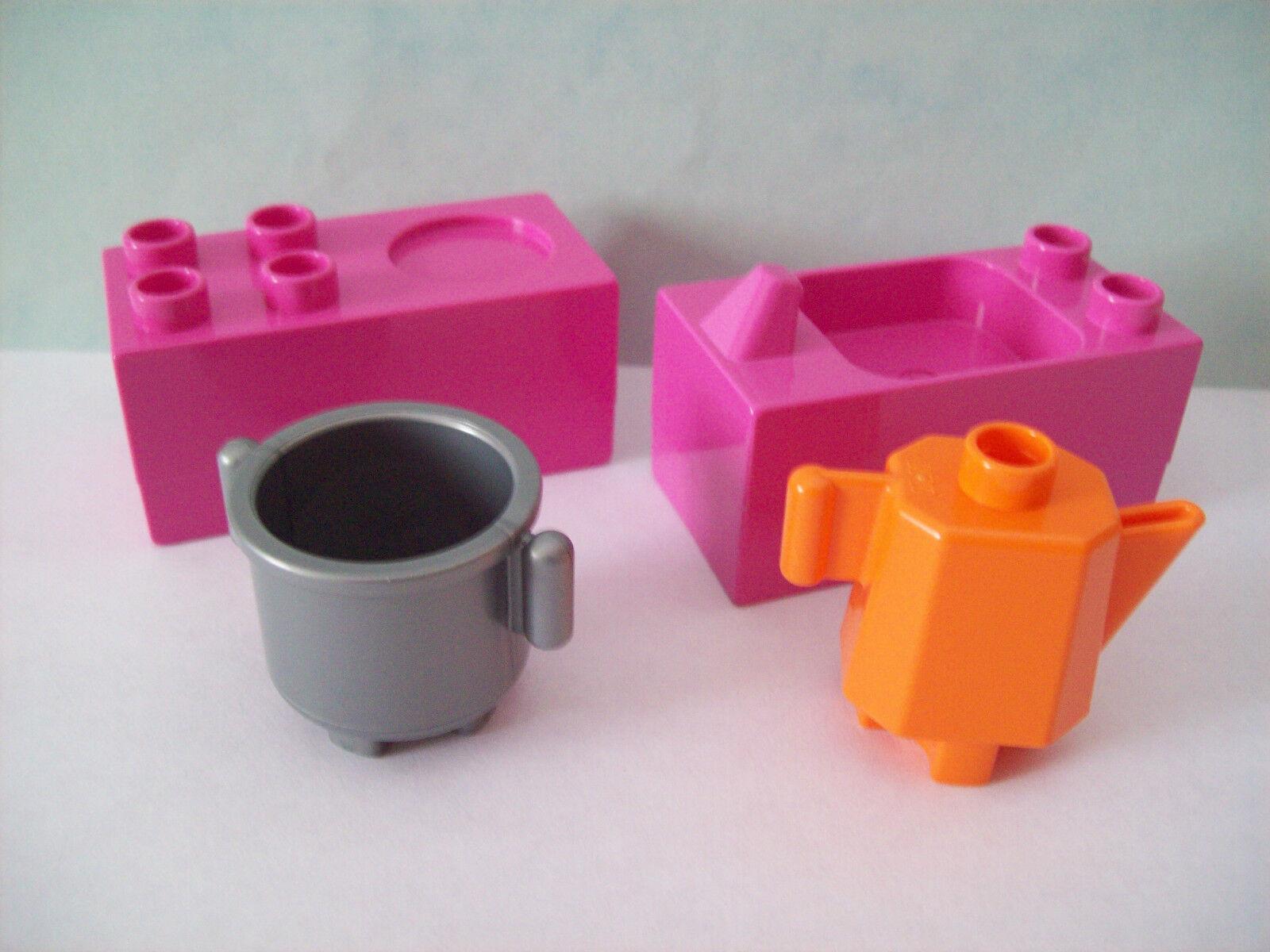lego duplo 5639 10505 kinderk che spielzeug rosa herd. Black Bedroom Furniture Sets. Home Design Ideas