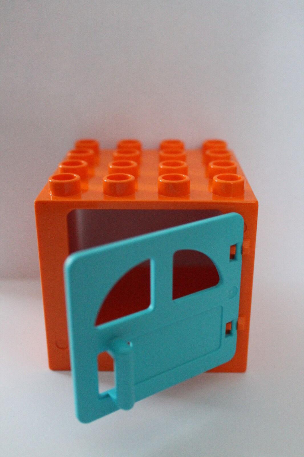 lego duplo sonderangebot t r fenster orange hellblau 4x4. Black Bedroom Furniture Sets. Home Design Ideas