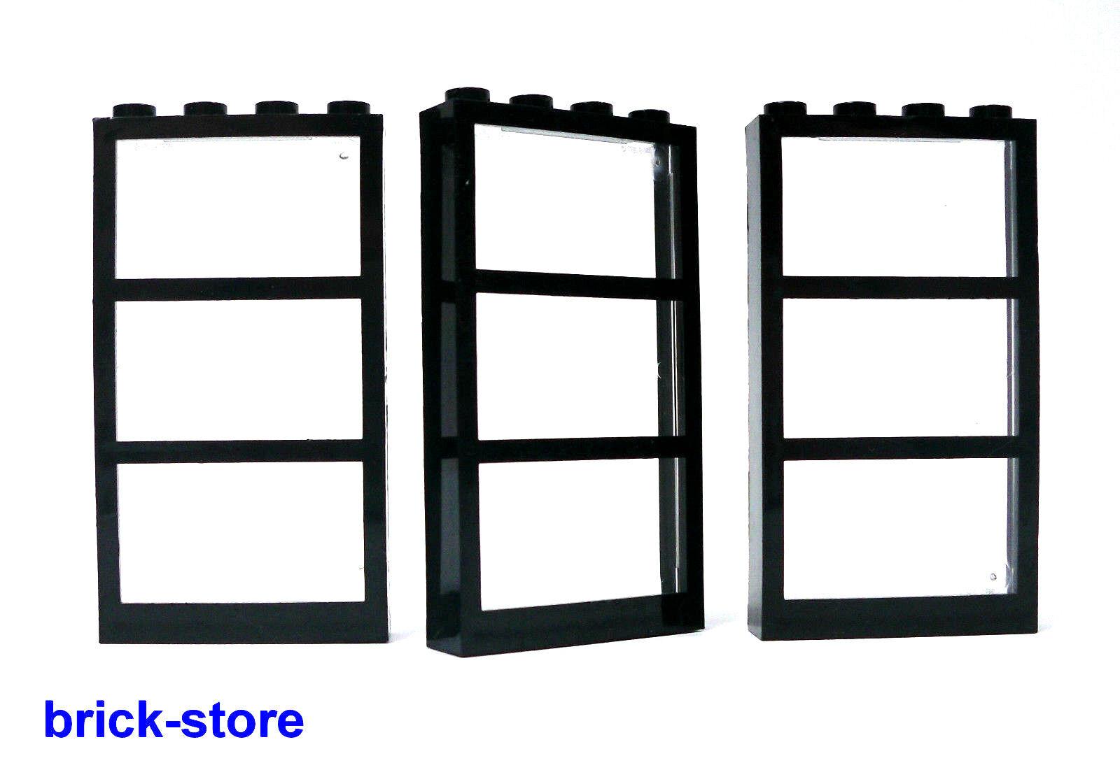 Lego fenster schwarz transparent klar 1x4x6 fenster 3 for Klebefolie fenster schwarz