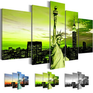 leinwand bilder bild kunstdruck new york skyline schwarz wei 5tlg 6039516 27 ebay. Black Bedroom Furniture Sets. Home Design Ideas