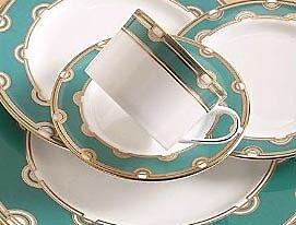 Lenox Kate Spade Corona Grove Aqua 6pc China Dinnerware