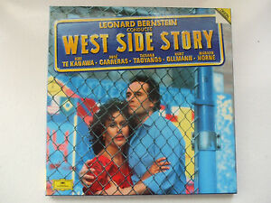 LEONARD-BERNSTEIN-WEST-SIDE-STORY-2LP-BOX-DEUTSCHE-DG-TE-KANAWA-CARRERAS-HORNE
