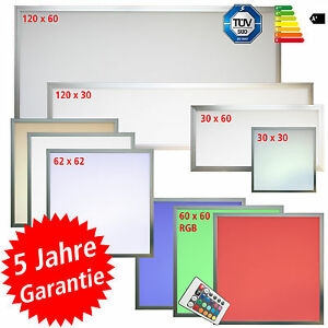 les led panel 30x30 60x30 60x60 62x62 120x30 120x60 auch dimmbar erh superlux ebay. Black Bedroom Furniture Sets. Home Design Ideas