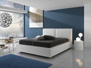 Letto matrimoniale con contenitore in ecopelle bianco camera da letto ebay - Ebay camere da letto ...