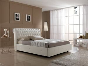Letto matrimoniale con contenitore in ecopelle camera da letto ebay - Letto matrimoniale ecopelle con contenitore ...