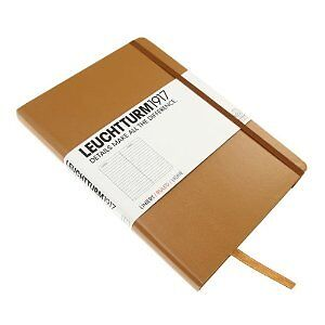 "LEUCHTTURM1917 CARAMEL POCKET RULED NOTEBOOK JOURNAL 3.5X6"" 185 PAGES DESIGNER in Books, Accessories, Blank Diaries & Journals 