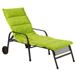 liegestuhlauflage rolliege deckchair liegestuhl auflage rollliegenauflage limett ebay. Black Bedroom Furniture Sets. Home Design Ideas