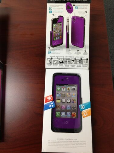 LIFEPROOF CASE for Iphone 4 / 4s ( Purple) 100% AUTHENTIC! CAN BE REGISTERED! in Cell Phones & Accessories, Cell Phone Accessories, Cases, Covers & Skins | eBay