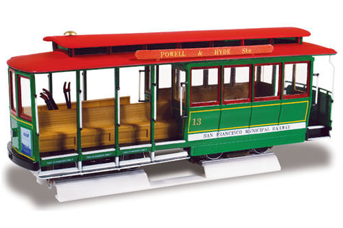 Lindberg San Francisco Cable Car Model Kit 1 48 Scale