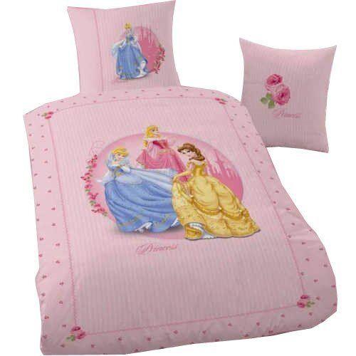 linon kinder bettw sche 135 200 disney princess roses neuheit ovp 100 baumwolle ebay. Black Bedroom Furniture Sets. Home Design Ideas