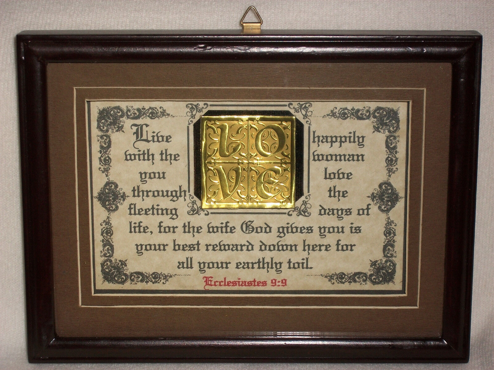 Wedding Gifts For Women: LIVE HAPPILY WITH THE WOMEN YOU LOVE-Bible Verse Plaques