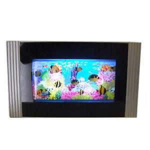 Living aquarium tv artificial fish tank nah3062 ebay for Fake fish tank with moving fish