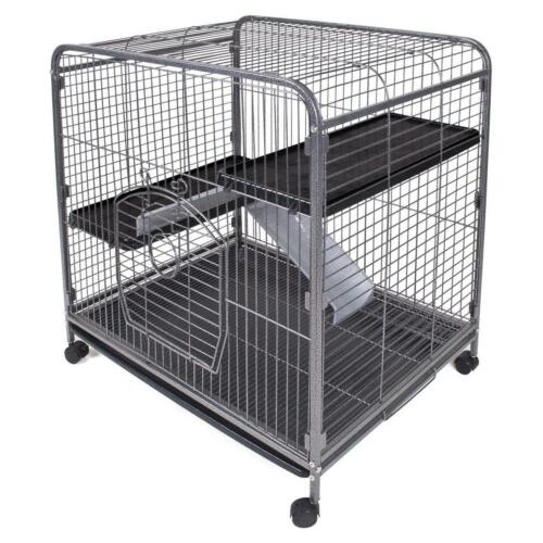 LIVING ROOM SERIES THREE LEVEL SMALL ANIMAL INDOOR HUTCH CAGE FERRET CHINCHILLA in Pet Supplies, Small Animal Supplies | eBay