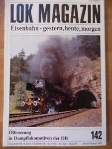 LOK-MAGAZIN-142-Jan-Feb-1987-Dampflok-01-1100-OBB-Schienenbus-5080-Lok-V100