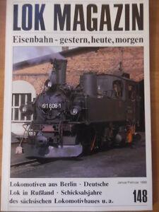 LOK-MAGAZIN-148-Jan-Feb-1988-Tenderlok-Gattung-IV-K-Hbf-Leipzig-Berlin-Loks
