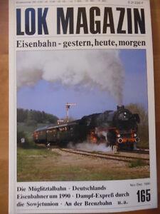 LOK-MAGAZIN-165-Nov-Dez-1990-Lok-01-1066-Mueglitztalbahn-Bahnhof-Rom-Brenzbahn